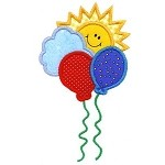 Sweet Sunny Balloons Applique Design