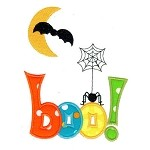 Boo Bat Spider Applique Design