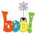 Boo Spider Applique Design
