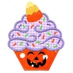 My Spooky Cupcake Applique Design
