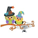 Spooky Owls Applique Design