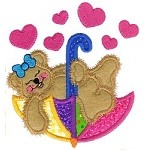 Raining Hearts Applique Design