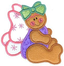 Gingerbread Angel Applique Design