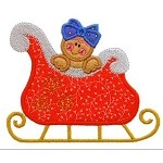 Ginger Sleigh Ride Applique Design