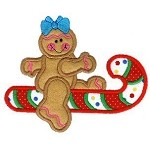 I Can Fly Gingerbread Applique Design