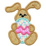 Bunny Egg Applique Design