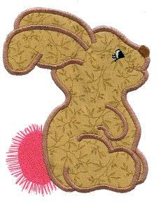 Bunny Profile Applique Design