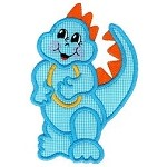 Little Dino Applique Design