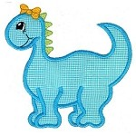 Girly Dinosaur Applique Design
