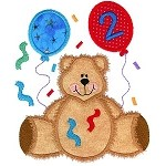 Confetti Bear Applique Design