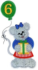 Mouse Party Applique Design