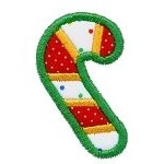Tiny Candy Cane Applique Design
