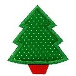 Mini Tree Applique Design