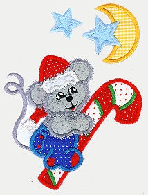 Mouse Ride Applique Design