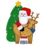 Country Santa Applique Design