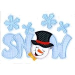 Snow Word Applique Design