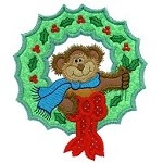 Monkey Wreath Applique Design