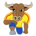 Football Bull Applique Design