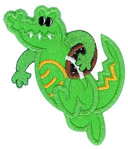 Gator Football Applique Design