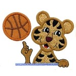 Basketball Tiger Applique Design
