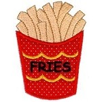 French Fries Applique Design