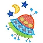 Spaceship Applique Design