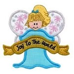 Joy To The World Angel Applique Design