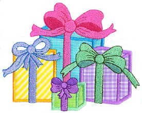 Gifts Applique Design