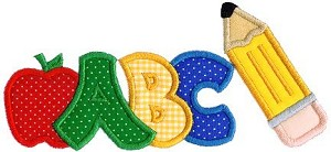ABCSchool Applique Design