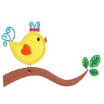 Birdie Branch Applique Design