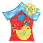 Birdhouse Applique Design