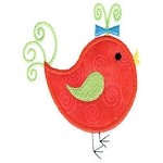 Little Birdie Applique Design