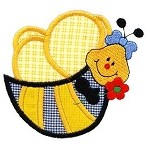 Little Bee Applique Design