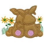 Bunny Hug Applique Design