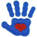 Handprint Heart Applique Design