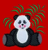 Panda Applique Design