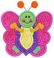 Little Butterfly Applique Design