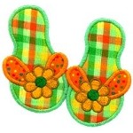 Flip Flop Applique Design