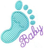 Baby Footprint Applique Design