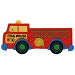 Firetruck Applique Design