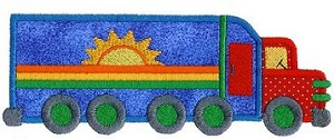 Semi Tractor Trailer Applique Design
