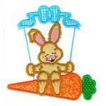 Bunny Carrot Swing Applique Design