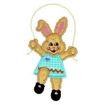Bunny Jumping Rope Applique Design