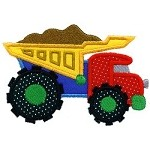 Dumptruck Applique Design