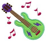 Guitar Applique Design
