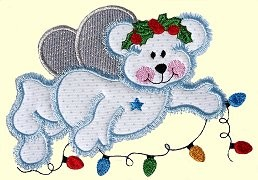 Angel Bear Applique Design