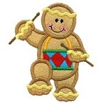 Gingerbread Drummer Applique Design
