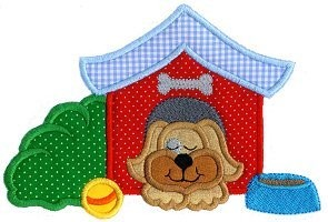Doghouse Applique Design