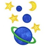 Planets Applique Design