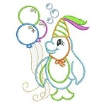 Swimming With Balloons Embroidery Design